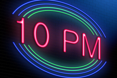 10 PM Neon Sign