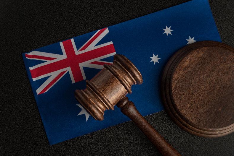 Australian Flag and Gavel