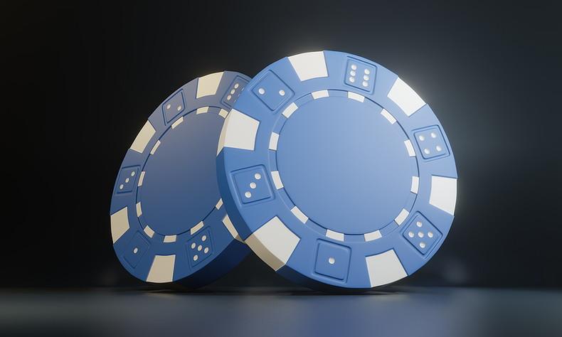 Blue 3D Casino Chips