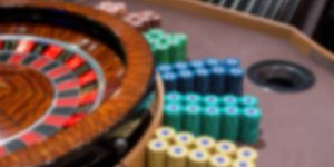 Blurred Roulette Table