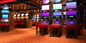 Empty Casino Gaming Machines