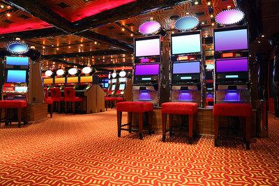 Empty Casino Gaming Machines