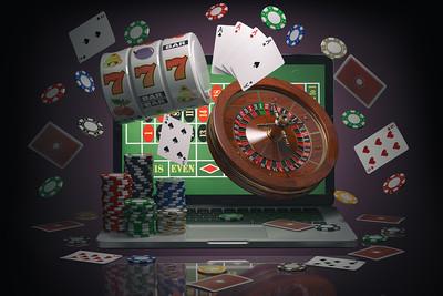 Casino Games Against Laptop Screen