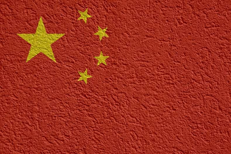 China Flag on Wall
