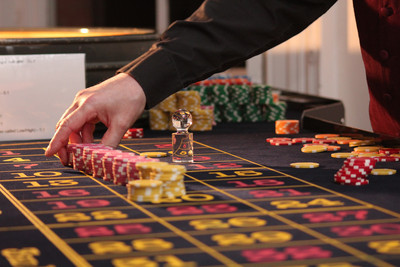 Chips Placed on Roulette Table