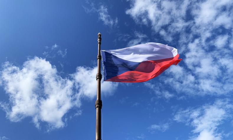 Czech Flag Against Blue Sky