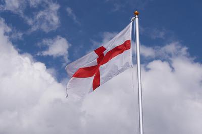 England Flag Against Cloudy Flag