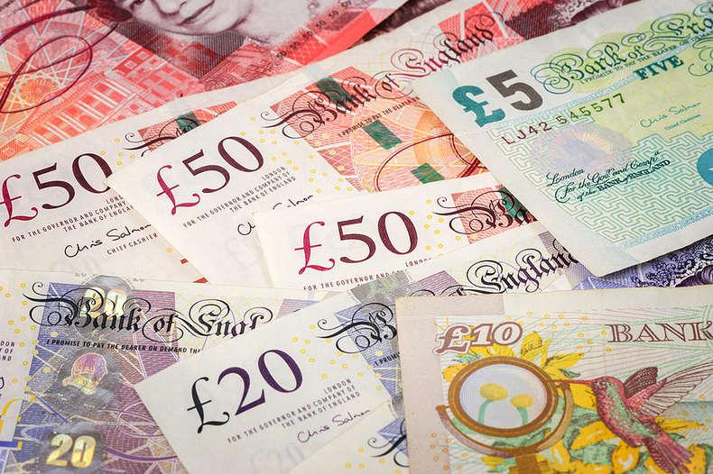 English Bank Notes of Various Denominations