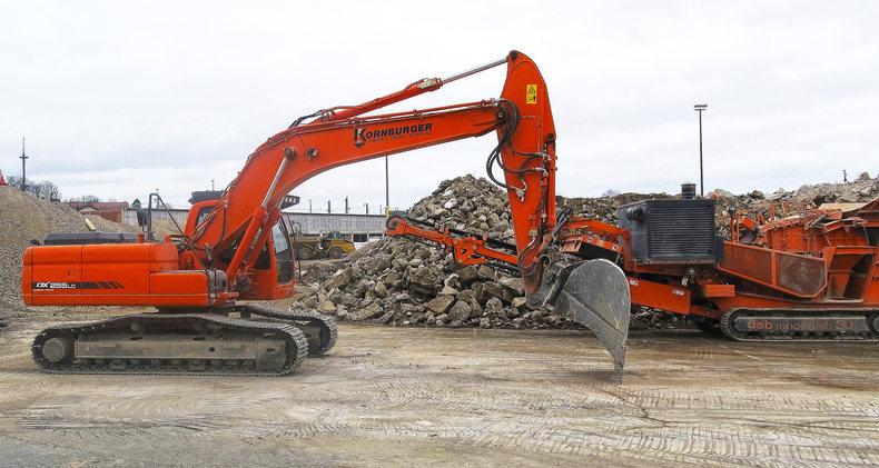 Excavators and Rubble