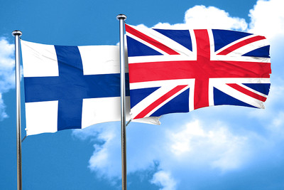 Finland and UK Flags