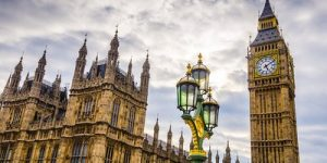 Houses of Parliament and Street Lamp