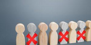 Job Cuts Wooden Figures