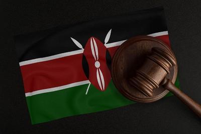 Kenyan Flag and Wooden Gavel