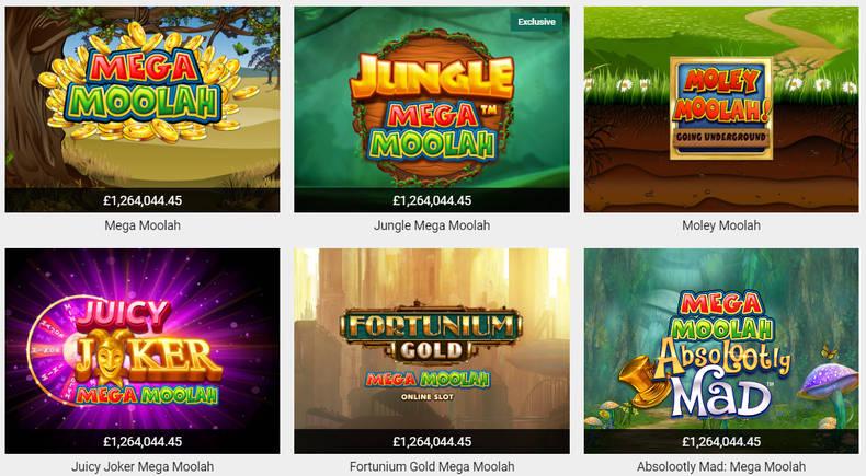Mega Moolah Games