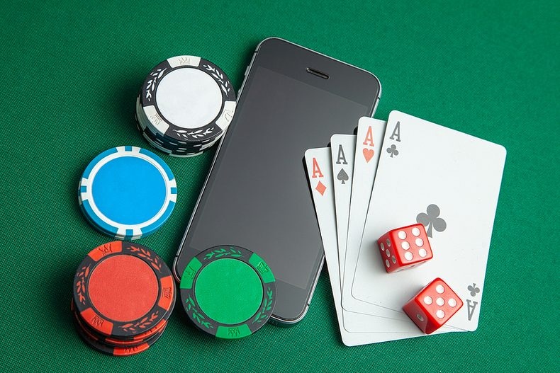 Mobile Phone on Casino Table