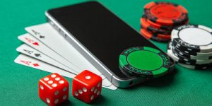 Mobile Phone on Poker Table
