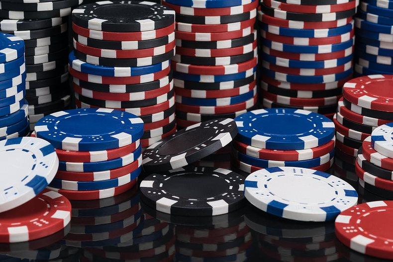 Multiple Stacks of Casino Chips