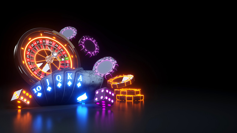 Neon Futuristic Casino Equipment