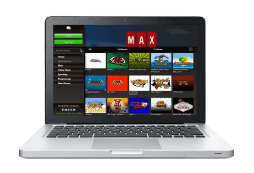 Online Casino Laptop Concept