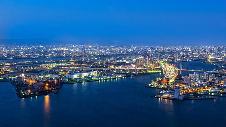 Osaka Port at Night