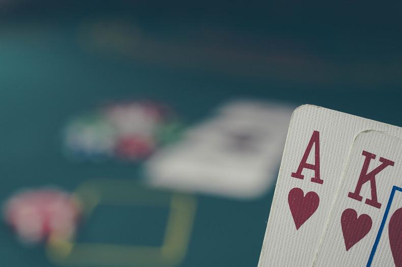 Poker Game Blurred