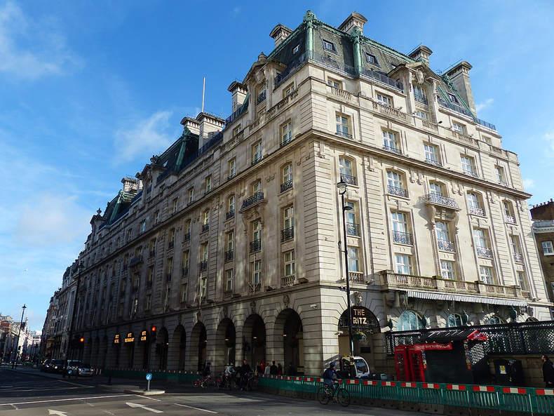 Ritz Hotel in London