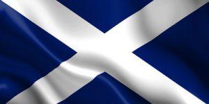 Scottish Flag Rippled