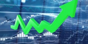 Stock Market Green Growth Arrow