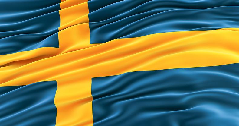 Sweden Flag Rippled