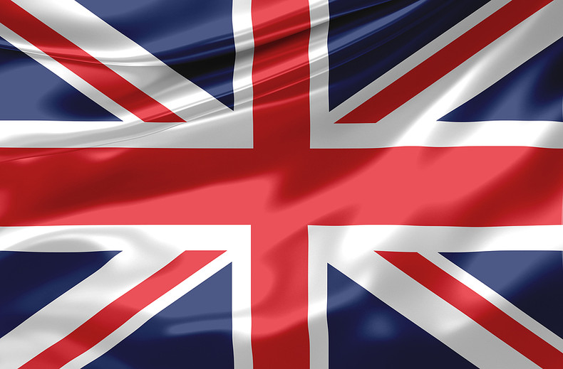 UK Flag Satin Effect