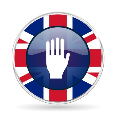UK Flag Stop Button
